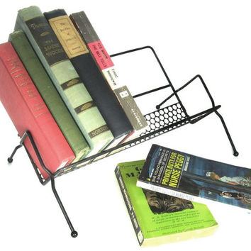Mid Century Book Rack / Cookbook Holder / Table Top Book Shelf