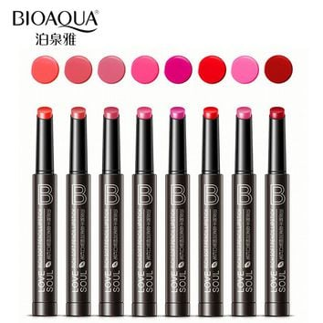 BIOAQUA Brand Velvet Matte Lipstick Set Makeup Long Lasting Moisturizing Balm Tint Lip Kit Full Lip Stick Pencil Nude Cosmetic
