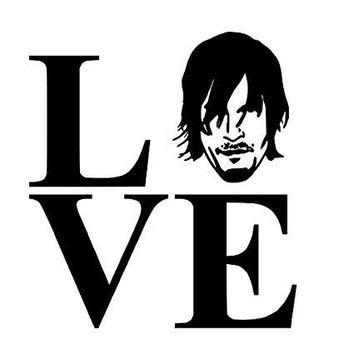 Love Daryl Walking Dead  Vinyl Car/Laptop/Window/Wall Decal