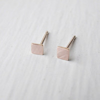Square Stud Earrings 14k Rose Gold Fill