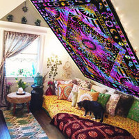 magical thinking tapestry wall hanging mandala hippie indian medallion bedspread