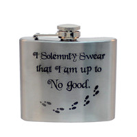 Steel 5oz Flask - Marauder's Map