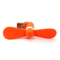 1Pc Orange Color USB Gadget for Android Phones Micro USB Fans Mini Fans for Samsung for HTC Phones