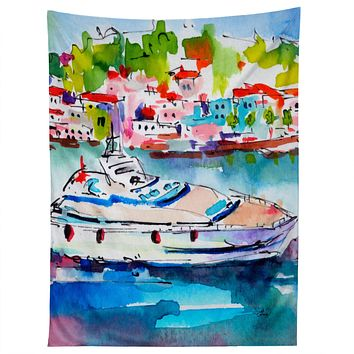 Ginette Fine Art Boating In Italy Tapestry
