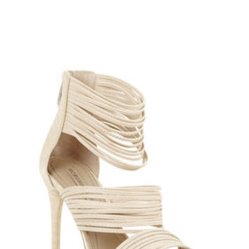 Neutral BCBG Pex High-Heel Strappy Day Sandal