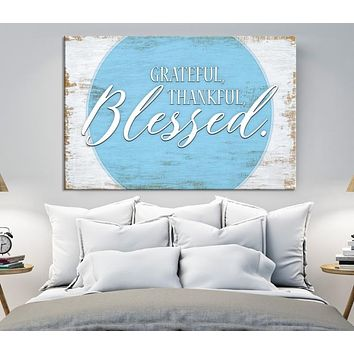 Blessed Custom House Wall Art Sign Canvas Print Personalized House Gift