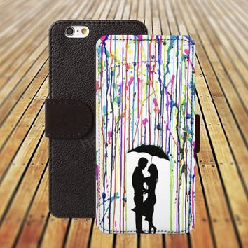iphone 5 5s case watercolor loves colorful iphone 4/4s iPhone 6 6 Plus iphone 5C Wallet Case,iPhone 5 Case,Cover,Cases colorful pattern L262