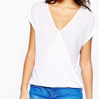 New Look Wrap Front Top