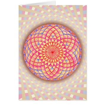 Magic Eye Torus Rangoli Art Sacred Geometry Card