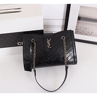 YSL SAINT LAURENT WOMEN'S LEATHER CHAIN SHOULDER BAG