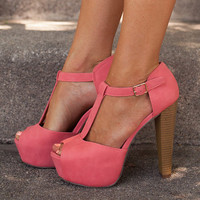 Sweet and Sassy Coral Heels