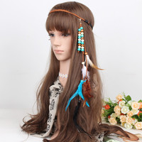 Bohemian Handmade Ethnic Tribal Gypsy Braid Headdress