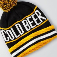 AEO Men's Cold Beer Pom Beanie (Yellow)