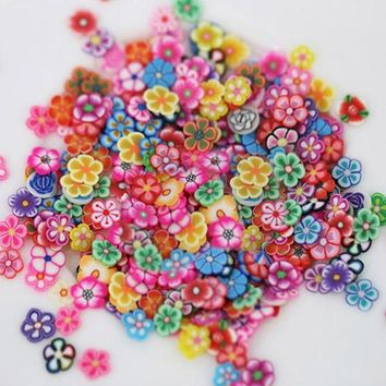 1000X Nail Art 3D Fruit Flower Fimo Slices Polymer Clay DIY Decoration Sticker