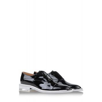 Barbara Bui Black Patent Leather Oxford - Lace-Up Brogue - ShopBAZAAR