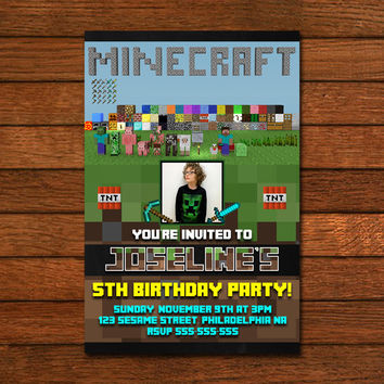 MinecraftGame Movie Invitation