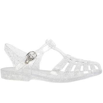 Angelica Jelly Sandal - Glitter Clear