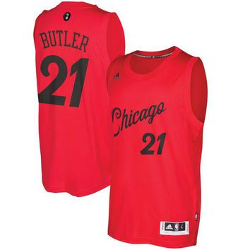 Men's Chicago Bulls Jimmy Butler adidas Red 2016 Christmas Day Swingman Jersey