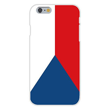 Apple iPhone 6 Custom Case White Plastic Snap On - Czech Republic - World Country National Flags