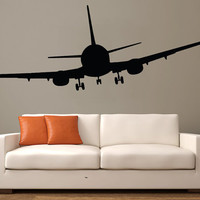 Wall Decal Vinyl Sticker Decals Art Decor Design Airplane Military War Air Aviation Sky Attack Man Boys Bedroom Living Room Nursery(r454)