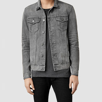 Mens Ivor Denim Jacket (Grey) | ALLSAINTS.com