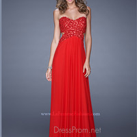 Strapless Sweetheart La Femme Formal Prom Gown 20733