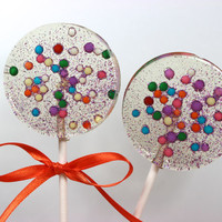 Party Favors, Lollipops, Candy, Circus Themed, Favors, Party Favors, Lollipops, Candy Lollipops, Sweet Caroline Confections-SIX LOLLIPOPS