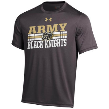 Army Black Knights Under Armour Slant Performance T-Shirt - Charcoal