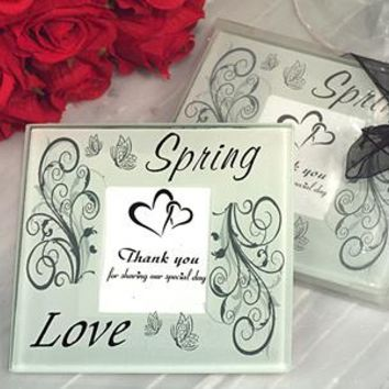 Spring Love Thank You Photo Coasters (Set of 2)