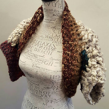 Crochet Hippie Shrug. Made by Bead Gs on ETSY. Size medium average. Hippie bolero