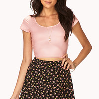 Cool-Girl Coated Crop Top