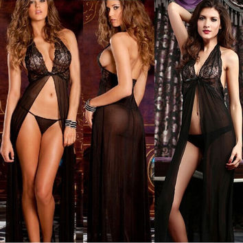 Ulamore Women Sexy Backless Lingerie Night Babydoll Sleepwear = 1933008068