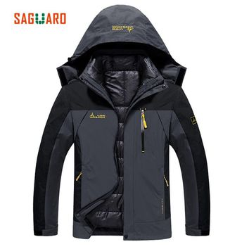 SAGUARO 2017 New Skiing Jacket For Men Women Winter Thick Warm Windproof Waterproof Jacket Adults Coat Outdoor Hiking Camping