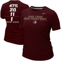 Nike Florida State Seminoles :FSU: Ladies Student Body Slim Fit T-Shirt - Garnet