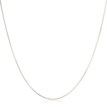 925 Sterling Silver 1mm 18 Inch Greek Box Chain Necklace
