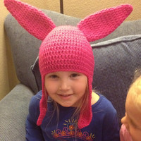 Louise Belcher from Bob's Burgers Beanie/ Hat - Any Size