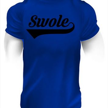 Swole Bodybuilding Powerlifting Motivational Workout Tee Shirt Gymmer Fitness Tops