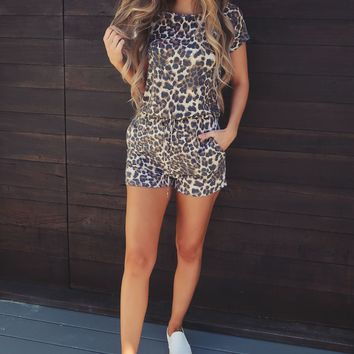 Quick Like A Cat Romper: Multi