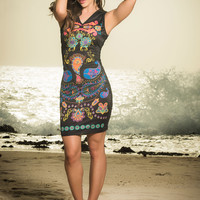 Slinky Sheath Dress-Colombian Beachwear