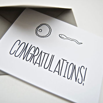 Funny Pregnancy Congratulations Card, New Baby