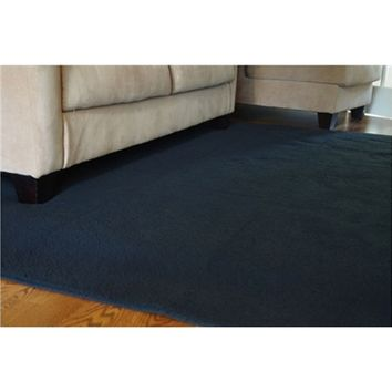 UltraSoft Lamb Rug - Black - Cheap Dorm Room Rugs for Comfort and Style