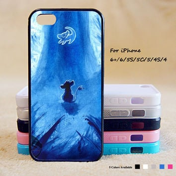 King of Lion Simba Phone Case For iPhone 6 Plus For iPhone 6 For iPhone 5/5S For iPhone 4/4S For iPhone 5C iPhone X 8 8 Plus