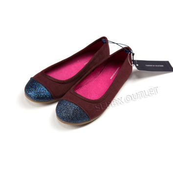 Tommy Hilfiger Shoes Ballerina Flats Maroon
