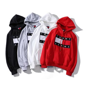 Tommy Hilfiger Embroidered Hooded Sweater