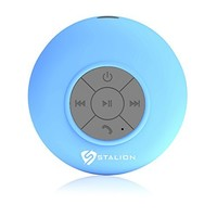 Tmvel Bluetooth Shower Portable Speakerphone with Built-In Mic - Retail Packaging - Blue