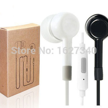 Hot Sale! High Quality Earphone Headphone Headset For XiaoMI M2 M1 1S Samsung iPhone MP3 MP4 With Remote And MIC 2 colors