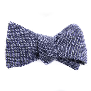 Nautical Blue Chambray Bow Tie