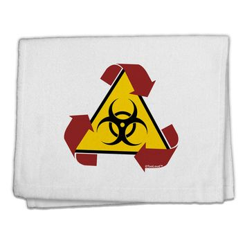"Recycle Biohazard Sign 11""x18"" Dish Fingertip Towel by TooLoud"