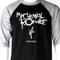 MY CHEMICAL ROMANCE basebal jersey 3/4 sleeve t shirt the black parade rock punk