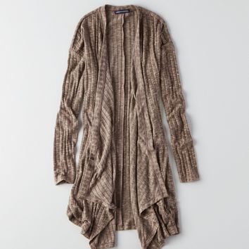 AEO FEATHER LIGHT WATERFALL CARDIGAN
